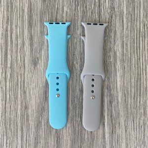 ADD ON ITEM/ 2 Soft Silicone Bands for Apple Watch